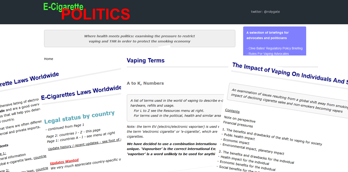 e cigarette politics